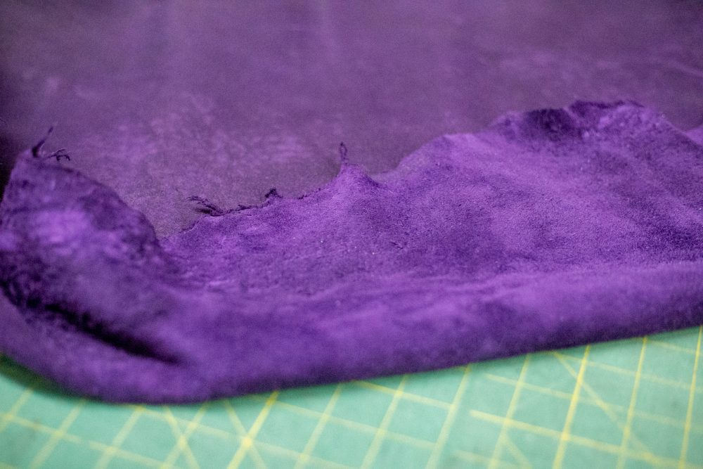 Purple elk leather